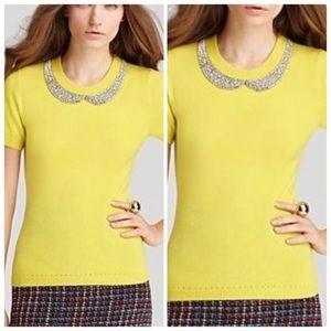 Kate Spade Tippi Sweater Embellished Short Sleeve